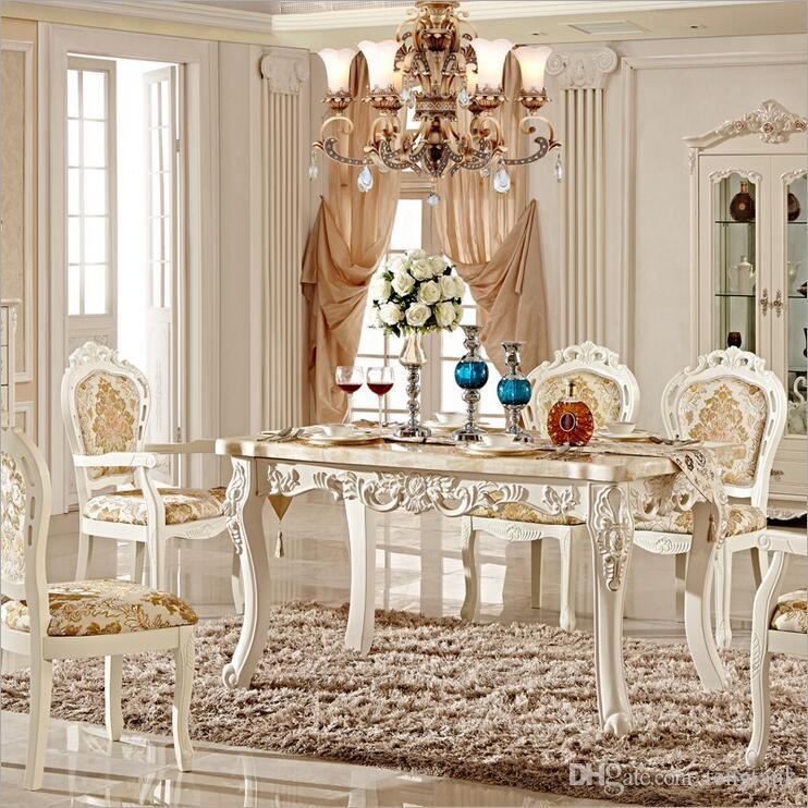 Antique Style Italian Dining Table 100 Solid Wood Italy Luxury Marble Set Pfy10052 Dinner With 1608 05 Piece