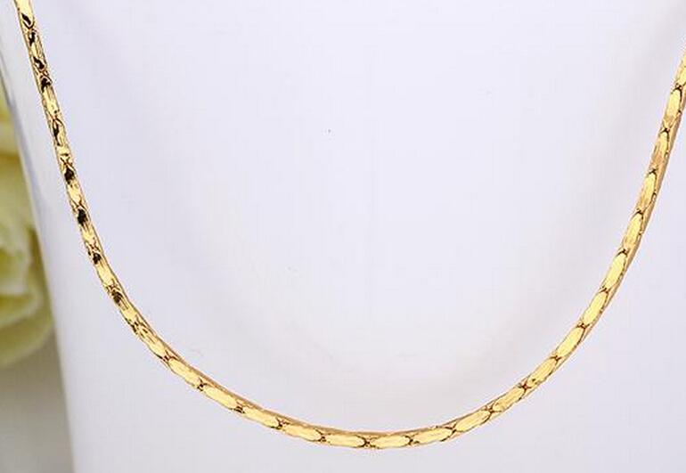18 inches Snake chain plated Rose gold platinum gold 18k gold necklace fashion personality sautoir Mrs/woman/girls gold necklace 10pcs/lot