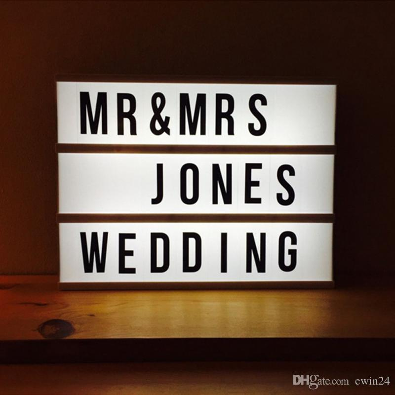 Cinematic Light Box Letter number symbol Cinema Sign Wedding Party Shop Decor DIY Art Lighting wholesale