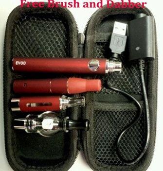 Qualidade superior EVOD 3 em 1 Kit cera erva seca e-líquido atomizadores ecigs kit MT3 AGO G5 globo de vidro 3em1 evod bateria vaporizador