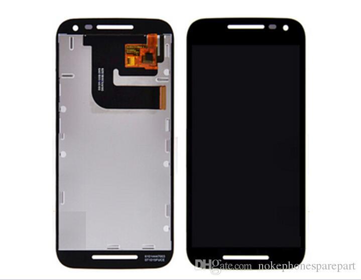 DHL 10 adet 2015 yeni siyah beyaz Motorola Moto G3 G 3rd Gen için lcd ekran dokunmatik digitizer ile komple Siyah Beyaz