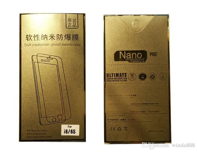 Manufacturers selling soft explosion-proof membrane nano explosion-proof membrane For iphone 6plus 6 5 4 Samsung S4 5 6 7 With retail pack