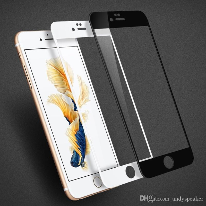 watch 6294b 8caeb For iPhone7 Tempered Glass for iPhone 6s 6s Plus 7 Plus Full Front  Protector with Paper Package 50pcs/up