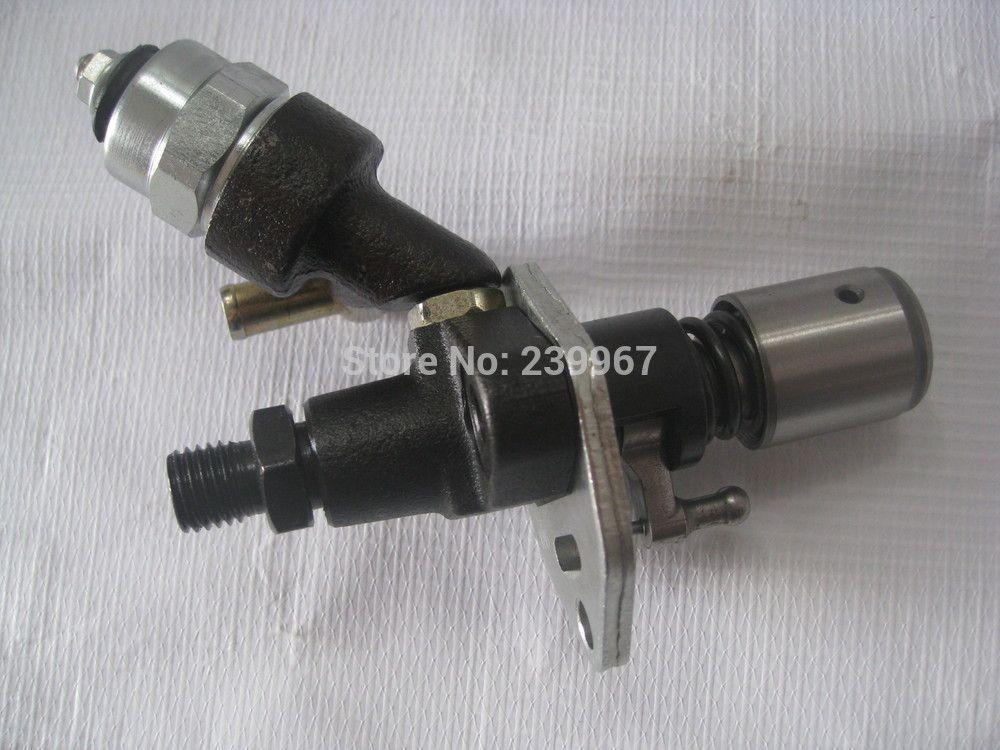 Pompa elettrica iniettore di carburante con solenoide Yanmar L100 Kama Kipor 10HP Diesel spedizione gratuita 406CC 418CC iniezione generatore