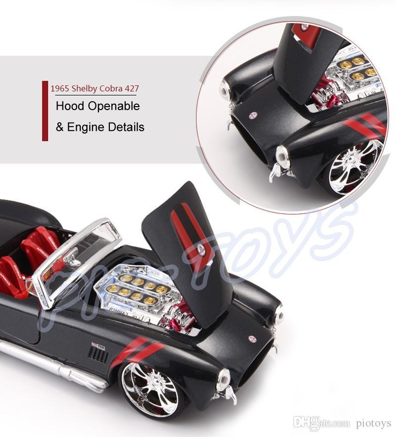 هدية العام الجديد 1965 شيلبي C 1/24 نموذج معدني الرياضة Roadstar تاريخ السيارات الطراز الكلاسيكي جمع سبيكة لعبة سيارات