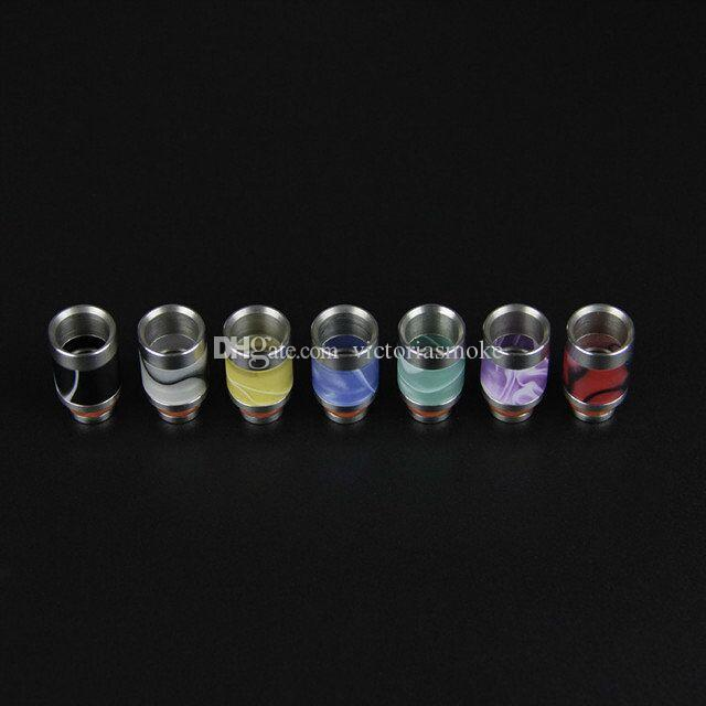 New Hot sale Drip Tips Stainless Steel + Acrylic Wide Bore Drip Tip 510 Atomizer Mouthpieces for CE4 Mini Protank E Cig Tannks