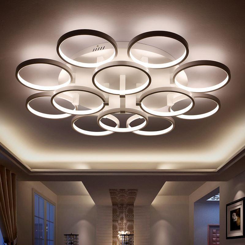 Modern Copper Ring Led Pendant Lighting 10758 Shipping: 2019 New Arrival Circle Rings Designer Modern Led Ceiling