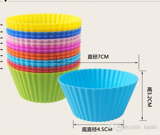 7cm Silica gel Liners baking mold silicone muffin cup baking cups cake cups cupcake