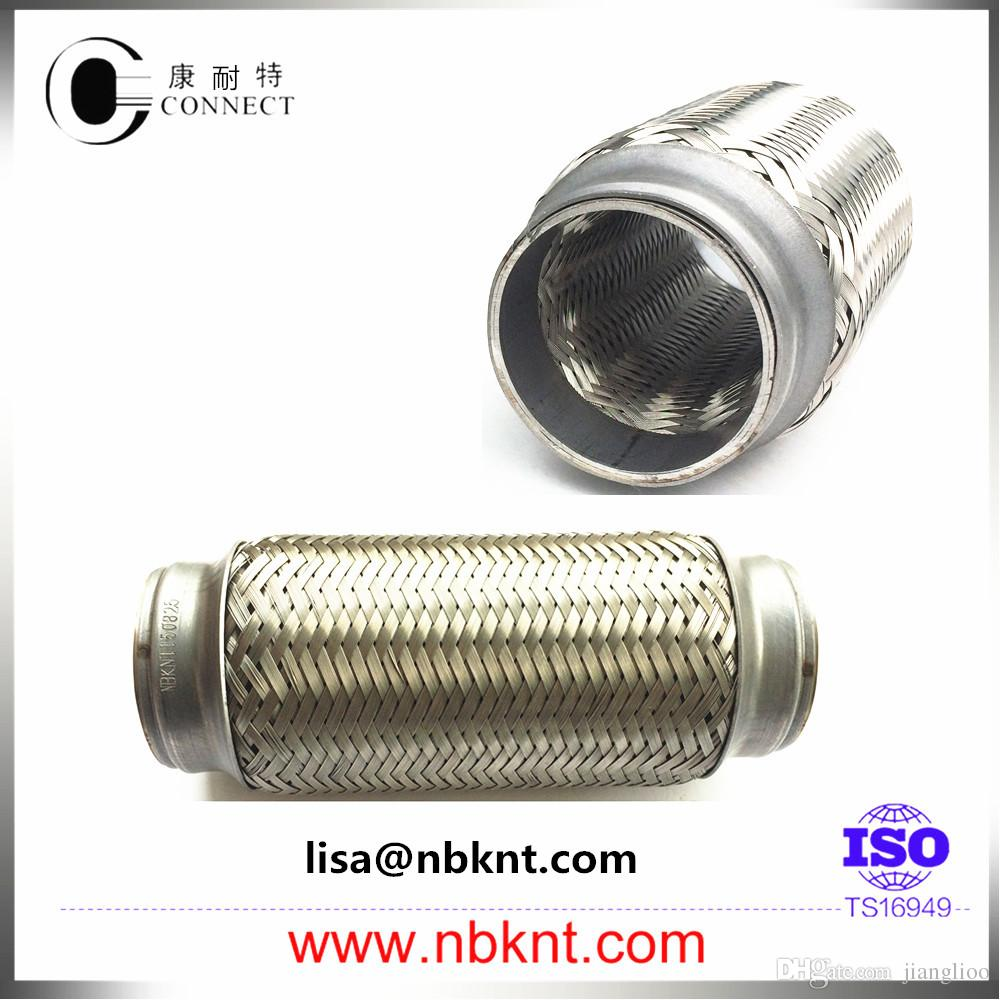 Auto Stainless Steel Double Layer Exhaust Bellows Flexible Hose