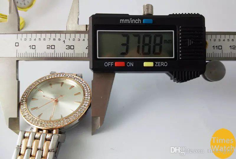 2019 Hot Top Selling Mulheres Homens Relojes de pulso de diamante de ouro de aço inoxidável relógio de moda de ouro rolse Frete grátis