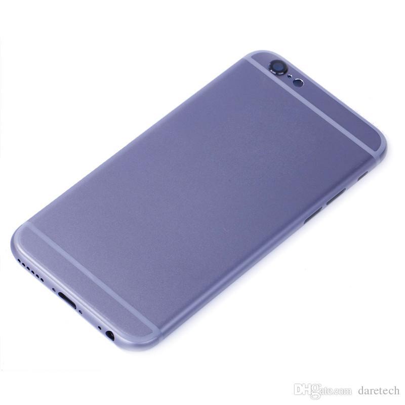 Cubierta de reemplazo para iPhone 6 más 6 s más Carcasa Colores de plata y oro con logotipo Sin logotipo Envío de DHL