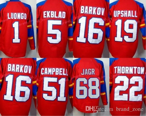 Florida Panthers 68 Jaromir Jagr Ice Hockey Jerseys 1 Roberto Luongo ... 186f1669e
