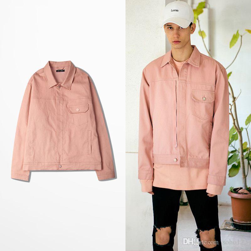 Swag Pink Denim Trucker Jacket Autumn Winter New Men Denim Jacket ...