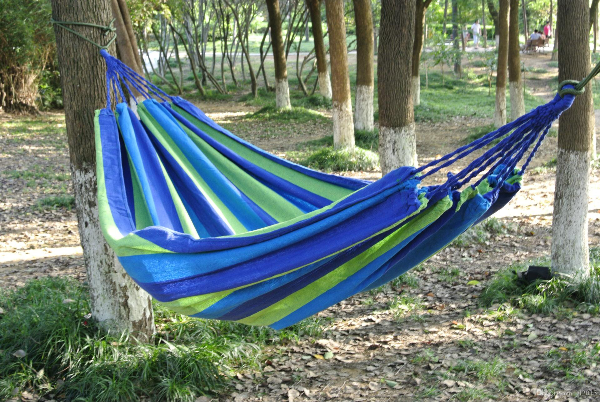 2018 Fedex Or Ups Hammock High Quality Portable Outdoor Garden Hammock Hang  Bed Travel Camping Swing Canvas Stripe Nvie Double Person Hammock From  Gl2015, ...