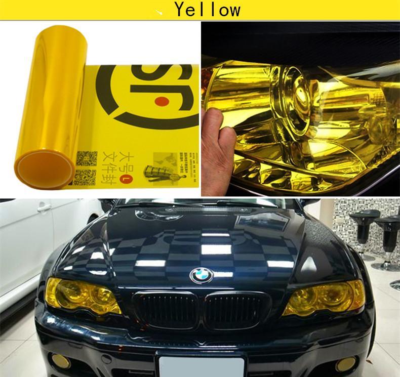 / 30 CM X 100 CM Auto Car Light Farol Taillight Matiz estilo impermeável Vinyl Film Sticker 12 Cores Opção