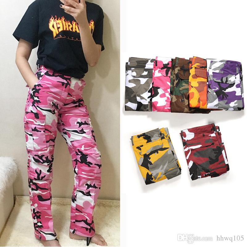 Acquista Pantaloni Hip Hop Camouflage Uomo Donna Moda Skateboard Pantaloni  Cotone Di Alta Qualità Casual Pantaloni Cargo Streetwear Club Bottoms  BFSH0505 A ... e26e6b150cce