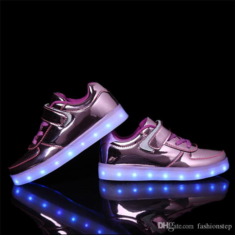 f5ab454341740 ... Chaussure Enfant Kids Fashion Breathable Sneakers. Children Shoes With  Light 2017 Autumn Baby Boys Girls Led