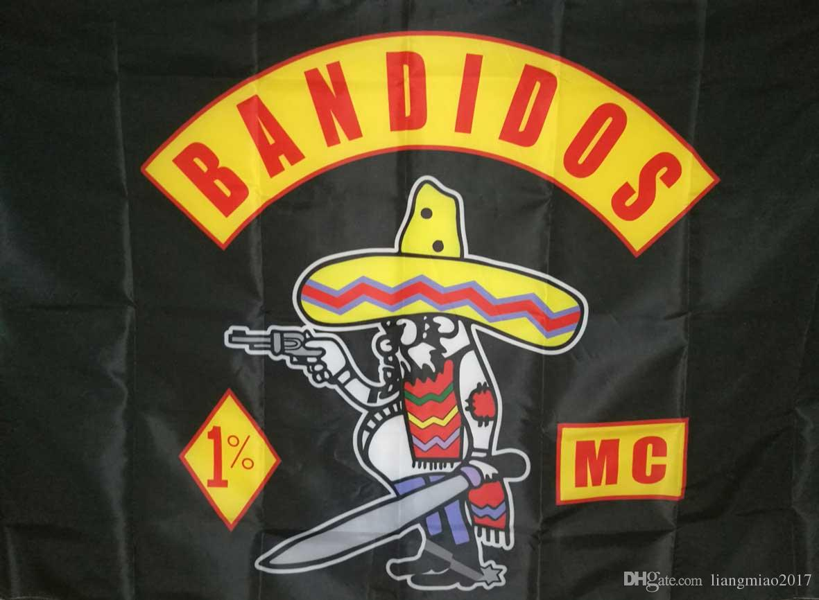Bandidos Motorcycle Club Flag Banner Decorative Flags and Banners 3x5 feet