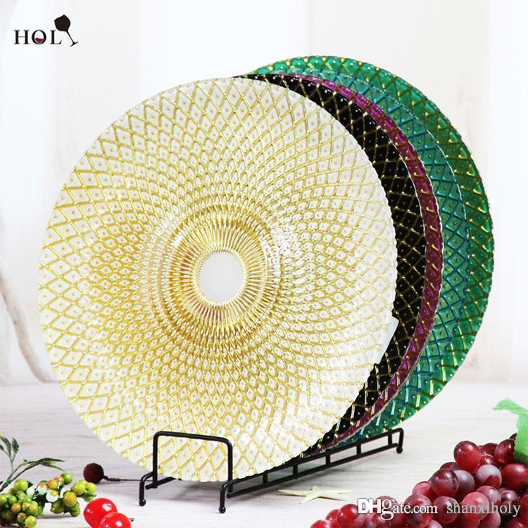 Different Color Decoration Glass Charger Plate for Wedding Glass Plate Wedding Plate Dinner Plate Online with $4.73/Piece on Shanxiholyu0027s Store | DHgate.com  sc 1 st  DHgate.com & Different Color Decoration Glass Charger Plate for Wedding Glass ...