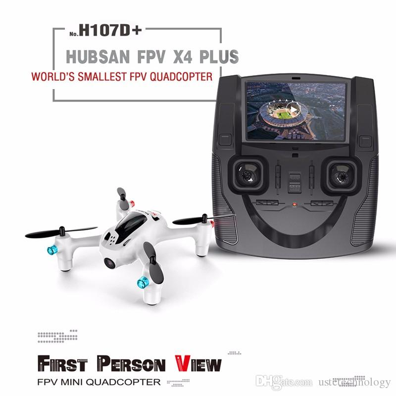 Hubsan H107D+ X4 Plus 2.4Ghz 6-Axis Gyro Mini Drone Camera FPV Dron Quad Copter RC Helicopter with Camera 2.0MP Wide Angle