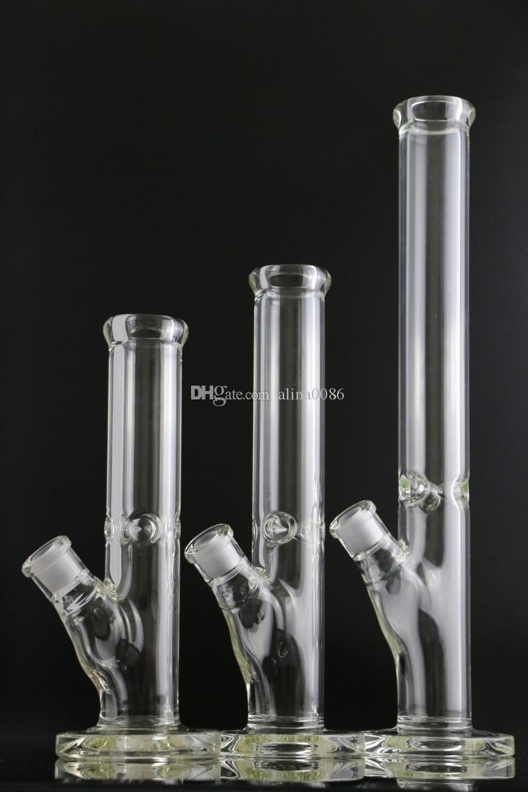 9mm Thick Glass Straight Bong tall 35cm With elephant Joint Super Heavy water pipes 14inches bongs