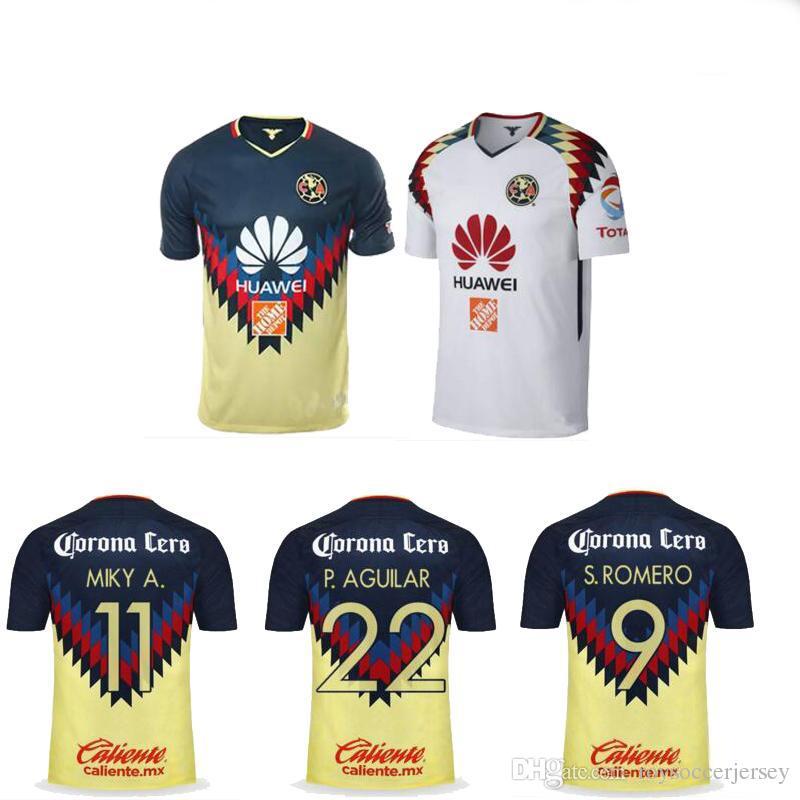 b73aa545e 2019 2017 2018 Mexico Club America Soccer Jerseys 17 18 PERALTA DOMINGUEZ  SAMBUEZA Camiseta MATHEUS URIBE LAINEZ QUINTERO Football Shirt From ...