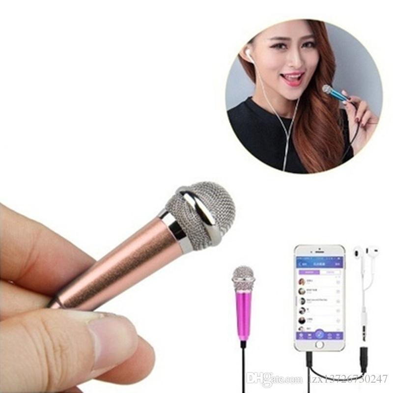 iPhone Samsung karaoke için Cep Telefonu Bilgisayar için MİNİ Jack 3.5mm Studio Lavalier Profesyonel Mikrofon El Mikrofon
