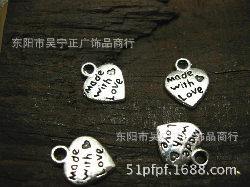 뜨거운! 사랑 티베트어 은색으로 만든 믿음 예수 매력 펜던트 12x2mm DIY 쥬얼리