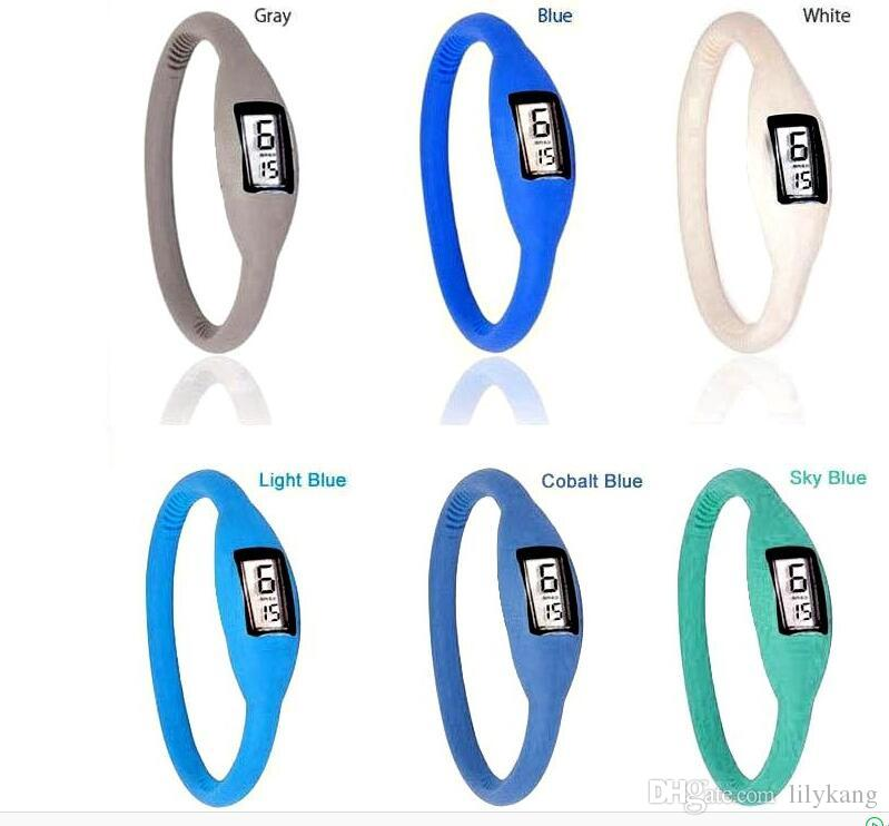 Cheap Led Watch Women men anion watches girl boy sport Anion Negative Ion Silicone LED Bracelet