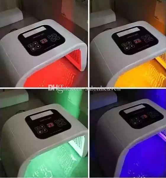 휴대용 LED PDT 빛 4 색 빨간색 파란색 녹색 노란색 PDT 치료 LED 얼굴 스파 기계 피부 회춘에 대 한 여드름 제거 안티 주름