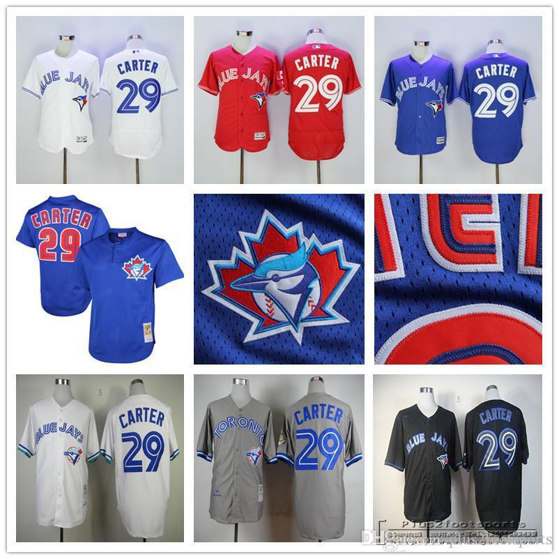 3c6f2e72d ... 2017 Mens Cooperstown 29 Joe Carter Toronto Blue Jays 1997 1992 1993  Throwback White Royal Blue Baseball ...