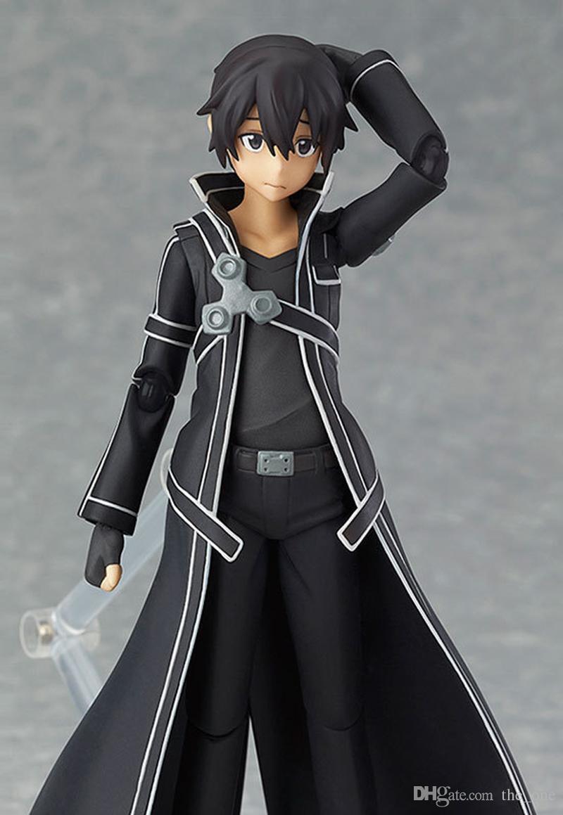 Anime Sword Art Online kirigaya kazuto Figma 174 Figma 178 Figma 248 PVC Action Figure Collectible Model Toy for kids toy 13cm