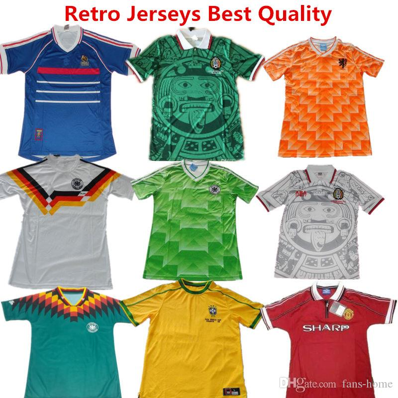 e7ef1654144 soccer jersey france 1998 world cup retro football shirts mexico 1988 green  shirts netherland germanys argentina