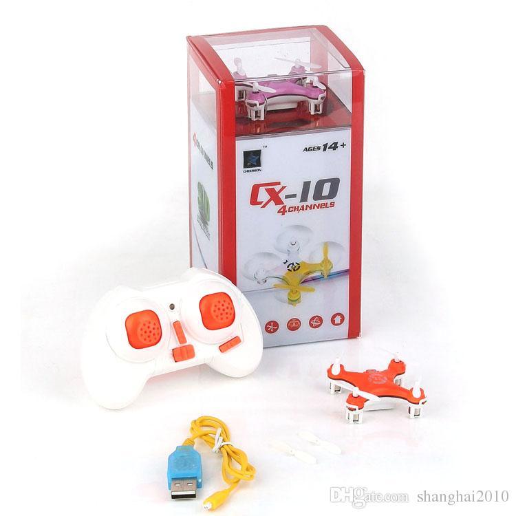 Cheerson CX-10 CX10 2.4G Giocattoli di Controllo Remoto 4CH 6Axis RC Quadcopter Mini rc elicotteri Radio Control RTF Drone 20 pz DHL