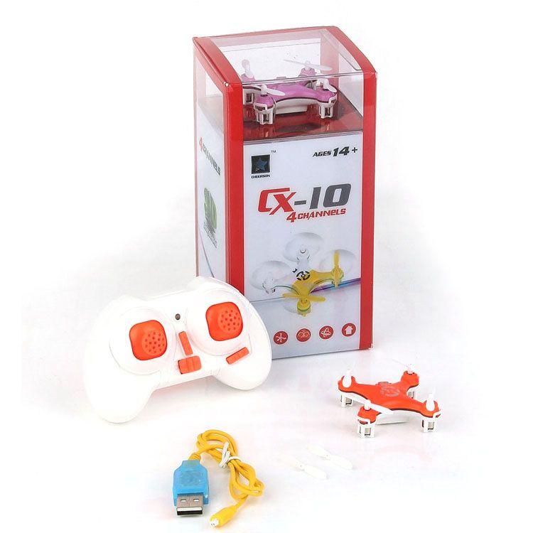 Cheerson CX-10 CX10 2.4G Remote Control Toys 4CH 6Axis RC Quadcopter Mini rc helicopters Radio Control RTF Drone DHL