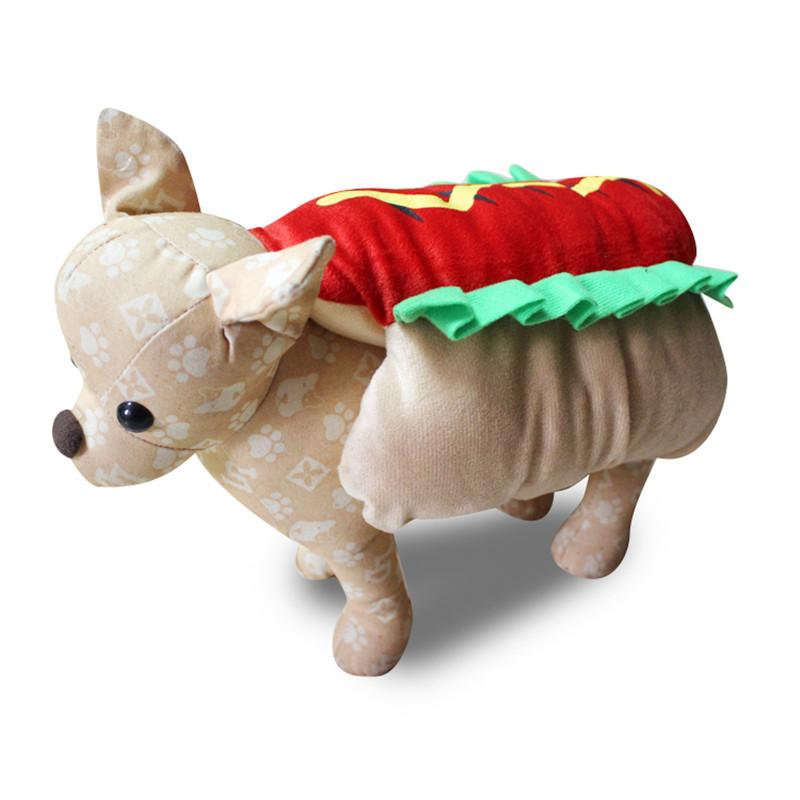 2019 Pet Dog 3d Clothes Coat Bread Hot Dog Hamburger Costume For