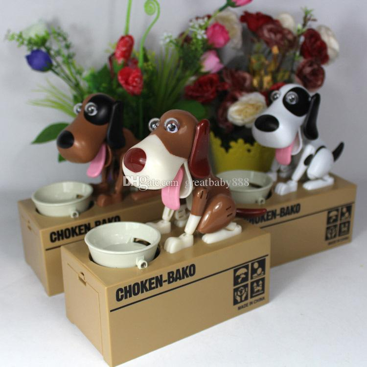 Cartoon Dog Model piggy bank Eat Bank Money Save Pot Saving Coin Box Creative Gift can't resist Taste So Good I Love money 6 styles C2678