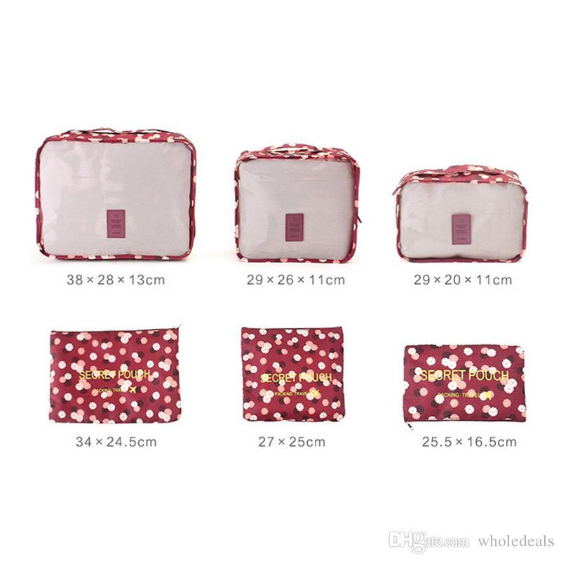 / set Ménage portable boîte vêtements imperméables organisateur boîte de stockage sous-vêtements soutien-gorge emballage maquillage sac de rangement en tissu cosmétique