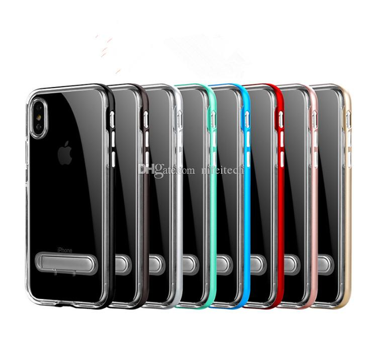 sale retailer 0ffb4 d627e SGP Spigen Crystal Hybrid TPU PC With Stand Cover Case For iPhone X 6 7 8  Plus Samsung S8 Plus Note 8 J5 A5 A7 2017 Huawei P10