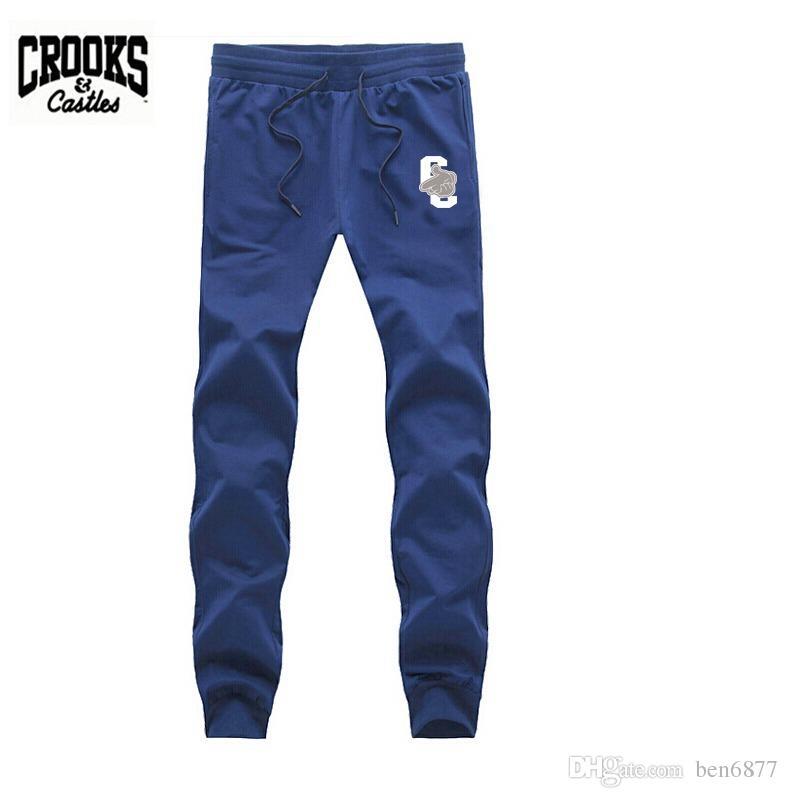 Pantaloni sottili di truffatori e castelli Changwei s-5xl Pantaloni maschili casuali di salute diritta di sport maschii Trasporto libero