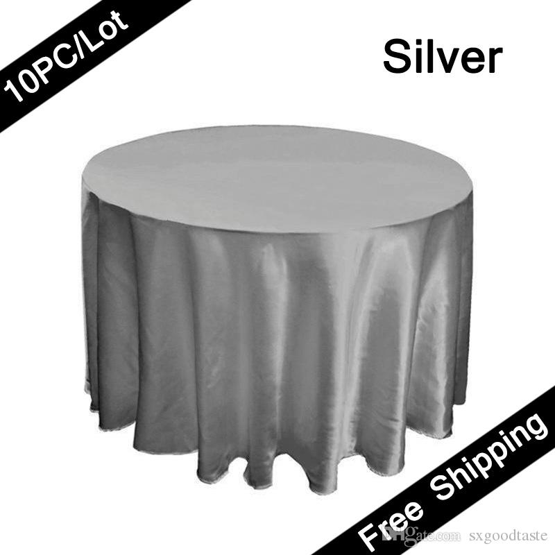 120 Seamless Tablecloth Round Party Table Covers Satin Fabric Table Cloth  Wedding Table Decoration Banquet Tablecloths Floral Tablecloth Round Vinyl  ...
