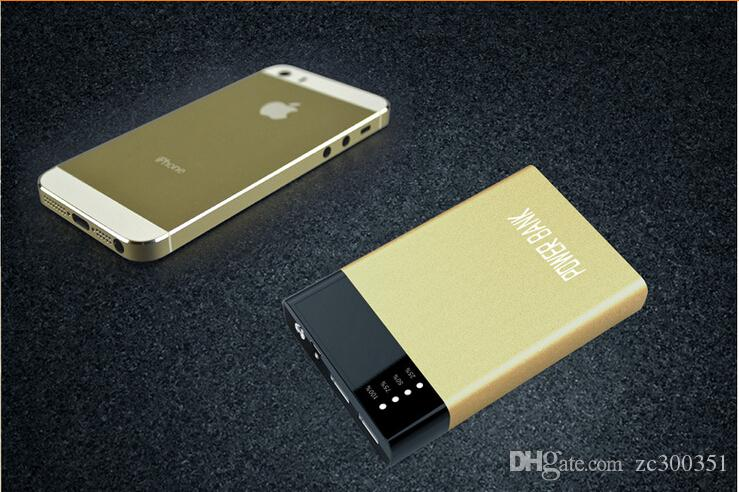 Оптовая Ультра тонкий тонкий банк питания POWERBANK 20000mAh для мобильного телефона Xiaomi Tablet PC внешней батареи