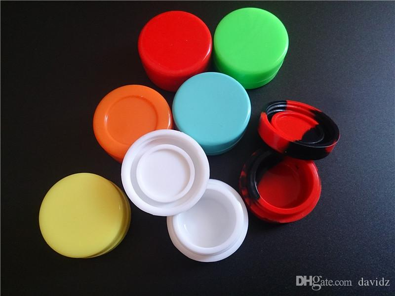 Nonstick Wax Containers silicone box 7ml Silicon container Non-stick food grade wax jars dab storage jar oil holder for tank ecig