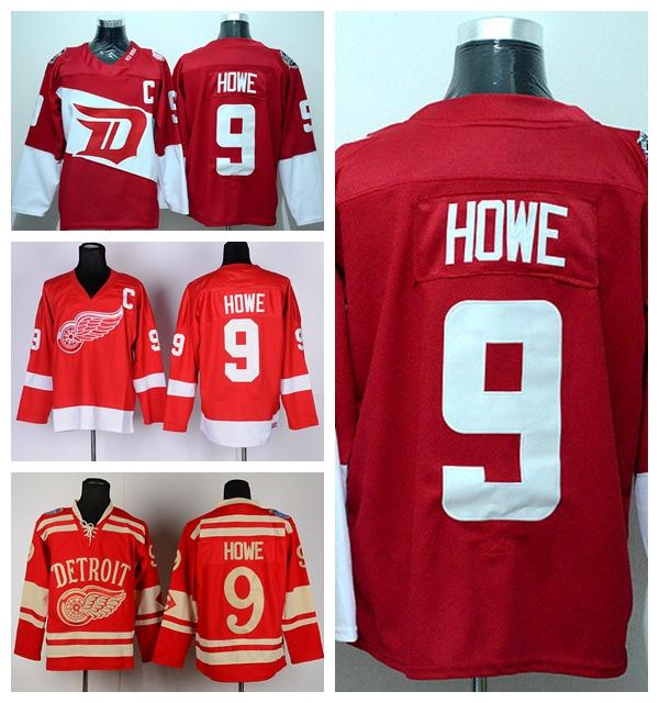 554fdb512 2019 Detroit Red Wings 9 Gordie Howe Jersey Stadium Series Winter Classic  Ice Hockey Team Color Red Alternate White Best Quality From Top sport mall