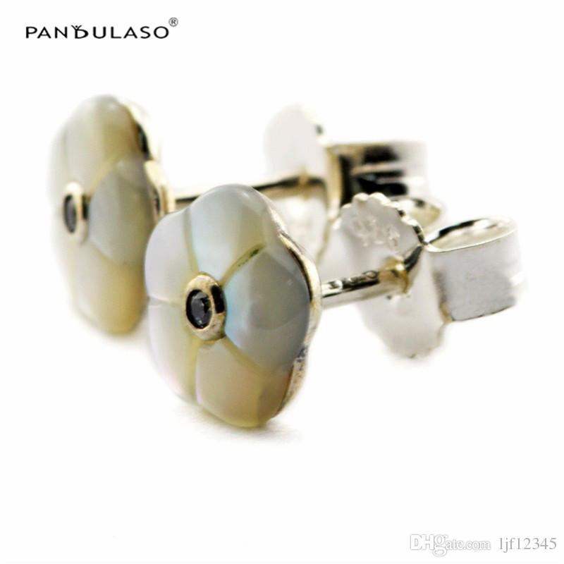 Sterling-Silber Earings Luminous Blumen Ohrstecker European Style Ohrstecker Modeschmuck Großhandel Kostenloser Versand Blume Ohrringe