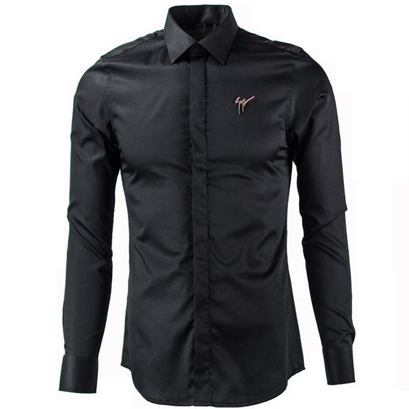 acheter gros camisa chemise de luxe hommes chemise homme. Black Bedroom Furniture Sets. Home Design Ideas