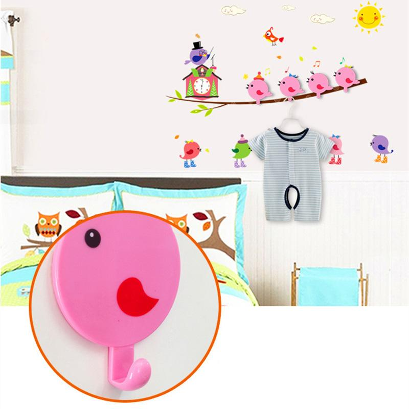 Wall Stickers Hook Cartoon Animal Strong Stick Hook Coat Wall Hooks+Sticker Clothes Hook Wall Sticker Home House Decor E5M1 order<$18no trac