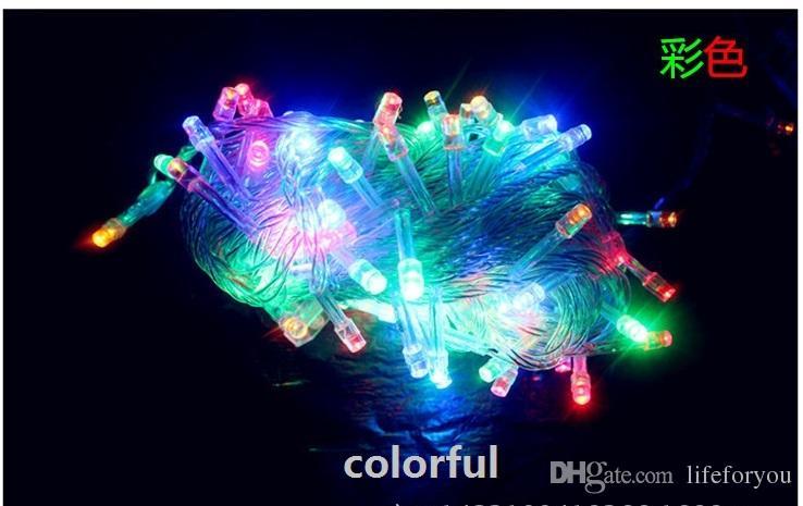 10M Lâmpadas LED Decorações de Natal Decorações ao ar livre Luzes de Natal LED Projetor LED Home Jardim Party Ornaments Flash LED luzes UL