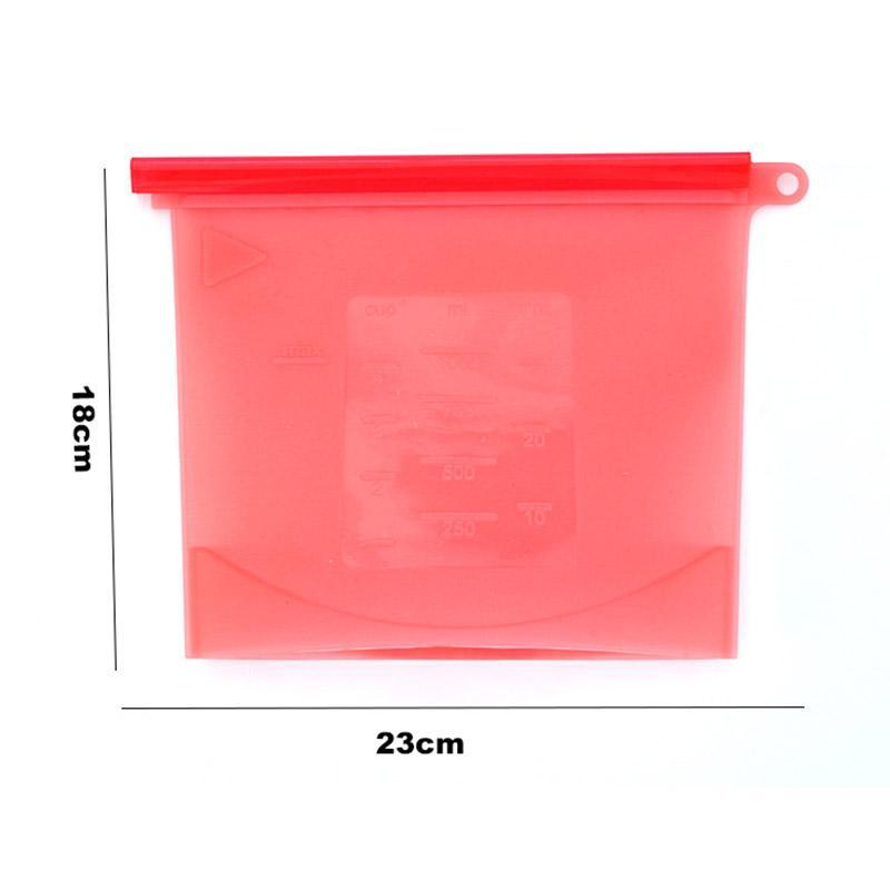 Wiederverwendbarer Silikon-Nahrungsmittelbewahrungs-Beutel-luftdichte Dichtungs-Nahrungsmittelvorratsbehälter-vielseitiger kochender Beutel Freies Verschiffen HH7-157
