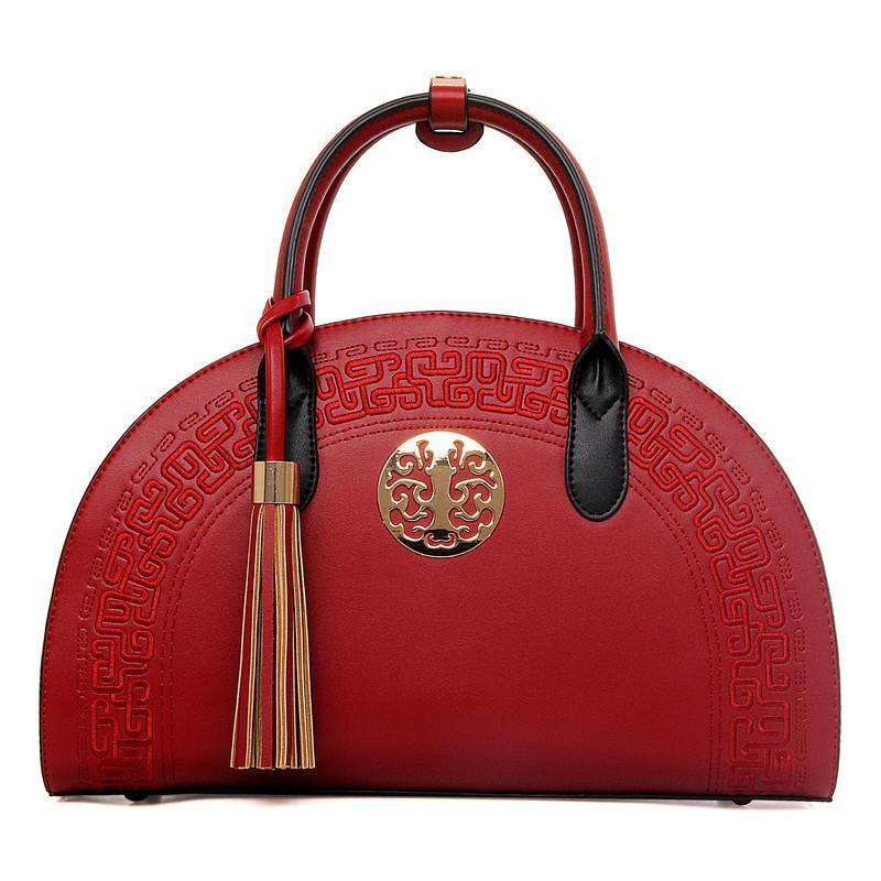 PU Leather Women Handbags Shoulder Cross Oblique National PU Leather Bridal  Solid Fashion Trend Simple Wild Handbag Totes Ladies Beach Bag Satchel  Handbags ... bf9fcd08b4121